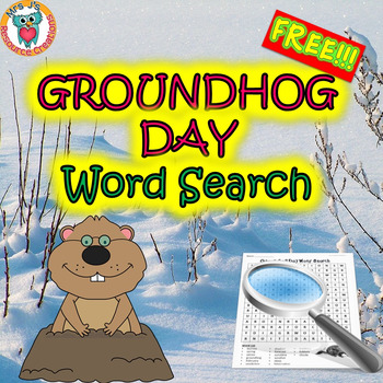 Groundhog Day Word Search Activity FREE