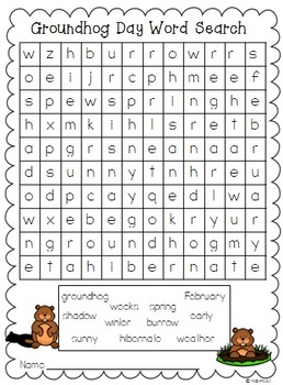 graphic relating to Groundhog Day Word Search Printable referred to as Groundhog Working day Phrase Appear Freebie