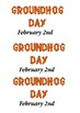 Groundhog Day Word Search and Color