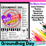 Groundhog Day Word Search Activity