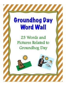 Groundhog Day Word Wall {FREE}