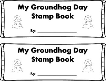 Groundhog Day Words Stamp Book