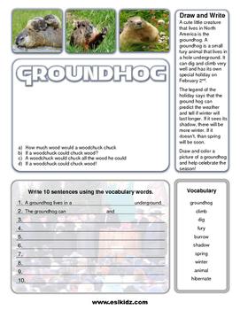 Groundhog Day Write and Draw Activity