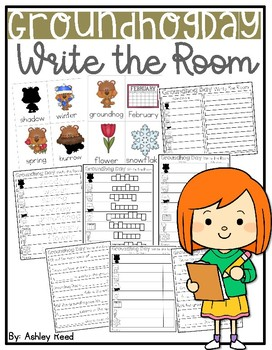 Groundhog Day Write the Room ~ Differentiated #ateachersspooktacularday