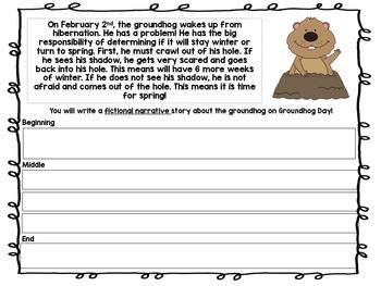 Groundhog Day Writing Activity
