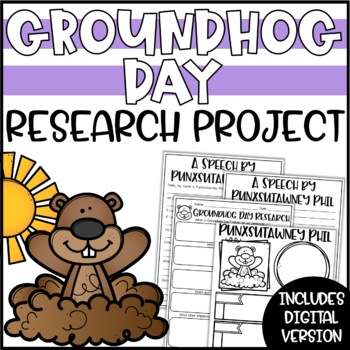 Groundhog Day Writing Activity - Research Project, Speech & Poster