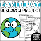 Earth Day Writing Activity - Research Project, Speech & Poster