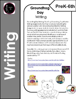 Groundhog Day Writing Assignment