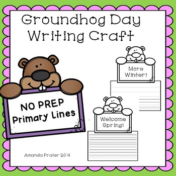 Groundhog Day Writing Craft With Primary Lines