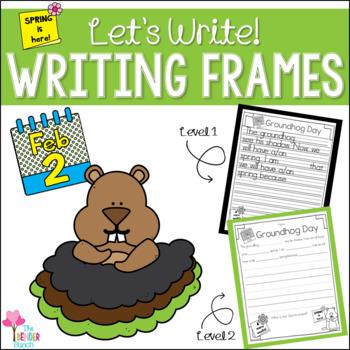 Groundhog Day Writing Frames Freebie {2 Levels}