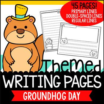 Groundhog Day Writing Paper FREEBIE