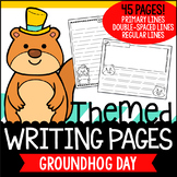 Groundhog Day Writing Paper FREEBIE