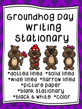 Groundhog Day Writing Paper--Groundhog Day Writing Stationary--DIFFERENTIATED