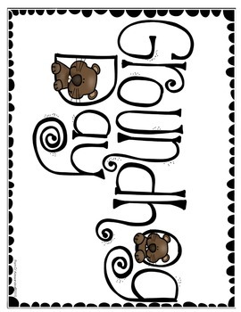 Groundhog Day Writing Prediction Chart Activity ~ Vocabulary~Graphic Organizer