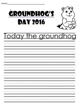 Groundhog Day - Writing Prompt