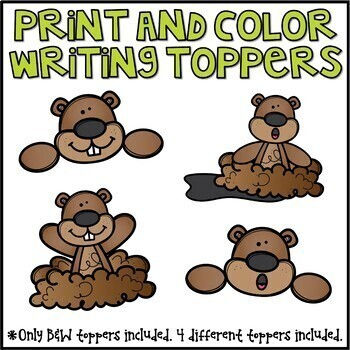 Groundhog Day Writing Prompts & Page Topper Craftivities