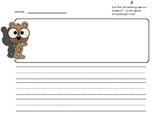 Groundhog Day Writing Template