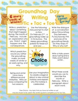 Personal Essay Examples For High School Groundhog Day Writing  Tic Tac Toe How To Write A Business Essay also Thesis Persuasive Essay Groundhog Day Writing  Tic Tac Toe By Once A Teacher Always A Teacher Essay Writing Examples For High School
