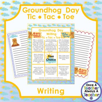 Groundhog Day Writing - Tic Tac Toe