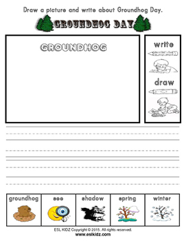 Groundhog Day Writing and Drawing Activity