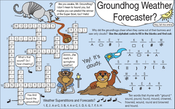 Groundhog Day and Weather Two-Page Activity Set