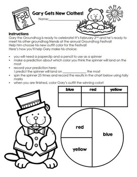 Groundhog Day booklet/worksheets
