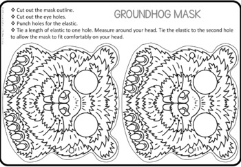 Groundhog Day craft  -  groundhog mask