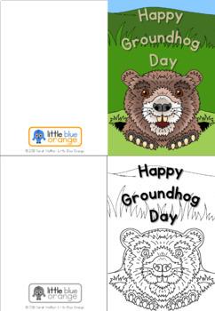 Groundhog Day craft / Shadow craft - pop-up groundhog