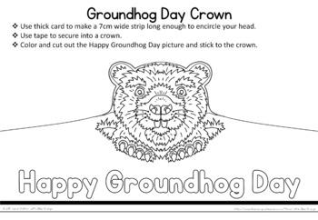 Groundhog Day craft  -  groundhog crown