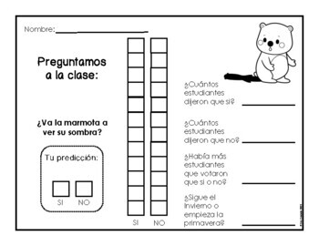 Groundhog Day elementary activities (Spanish)