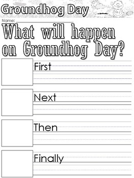 Groundhog's Day themed Writing Prompts and Worksheets