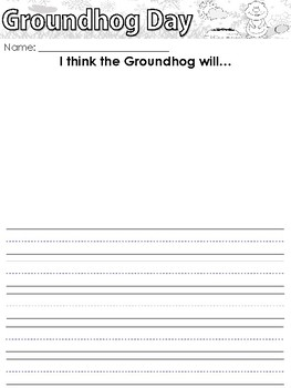 Groundhog Day themed Writing Prompts, Worksheets, and Headband, Bundle