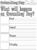 Groundhog Day themed Writing Prompts, Worksheets, and Head