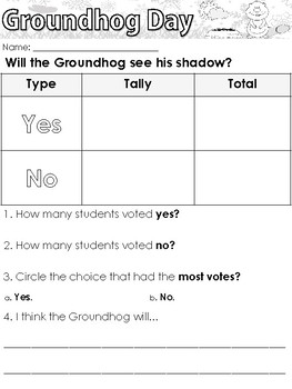 Groundhog Day themed Writing Prompts and Worksheets