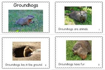 Groundhog Day Emergent Reader and Craftivity