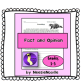 Groundhog Fact and Opinion Worksheet for Literacy