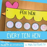 Ten Hen {Counting Off the Decade by Tens or Hundreds Craft}