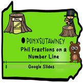 Groundhog Fractions on a Number Line in Google Slides™