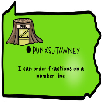 Groundhog Fractions on a Number Line in Google Slides™