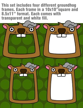 Groundhog Frame and Page Toppers Clipart