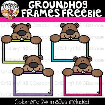 Groundhog Frames Freebie Clipart {Groundhog's Day Clipart}