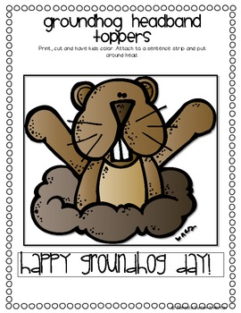 Groundhog Freebie Printable