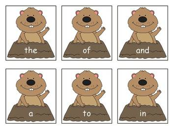 Groundhog Fry Sight Word Game