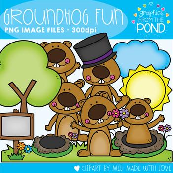 Groundhog Fun Clipart