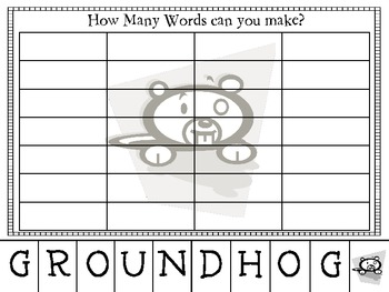 Groundhog Fun Pack with {Craftivity}!