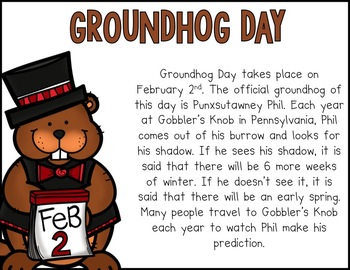 Groundhog Games {Language Arts, Math and More}