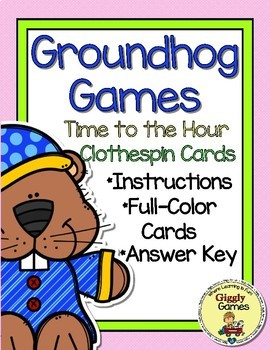 Groundhog Games Time to the Hour Clothespin Cards