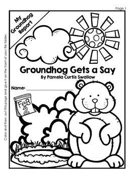 Groundhog Gets A Say: An interactive file folder book report/research project