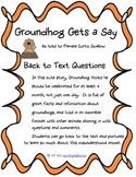 Groundhog Gets a Say Back to Text Questions