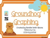 FREEBIE Groundhog Graphing Task Cards- One and Four Quadrant